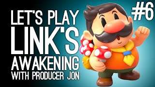 Link's Awakening Switch Gameplay: Link's Awakening with Producer Jon Pt 6 - ANIMAL VILLAGE ARF MEOW
