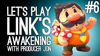 Link's Awakening Switch Gameplay: Link's Awakening with Producer Jon Pt 6 - ANIMAL VILLAGE ARF MEOW