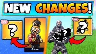 Fortnite Update: *NEW* SKINS + WEAPON RETURNS! - 9 Secret CHANGES in Battle Royale!