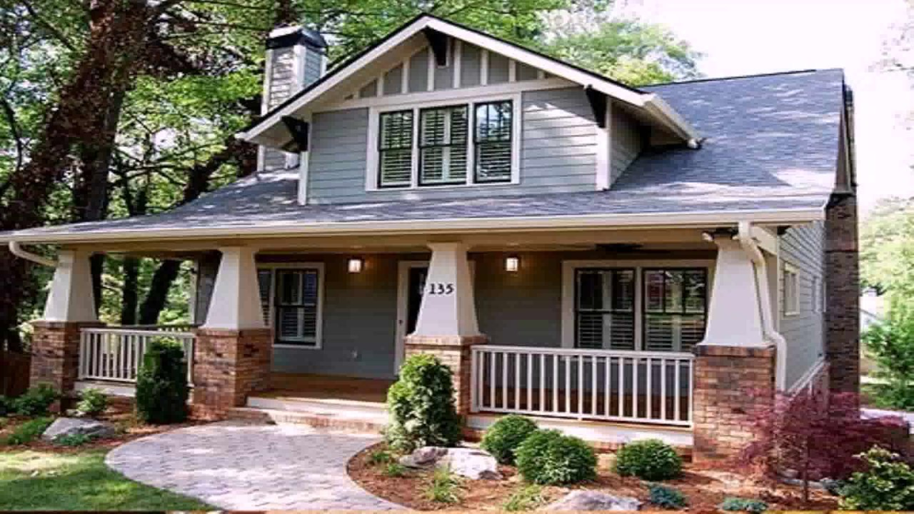 Craftsman style house plans 2 story youtube for Two story craftsman