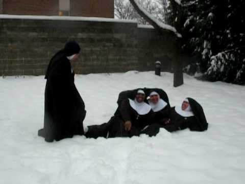 Capuchin poor Clares in the Snow