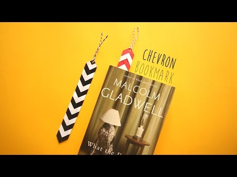 DIY: Chevron Bookmark