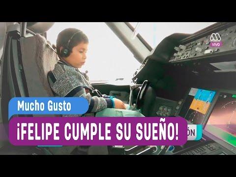 El club de los sueños - Felipe sueña con ser piloto de avión - Mucho Gusto 2016
