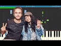 Zedd & Alessia Cara - Stay - Piano Tutorial / Cover - Instrumental