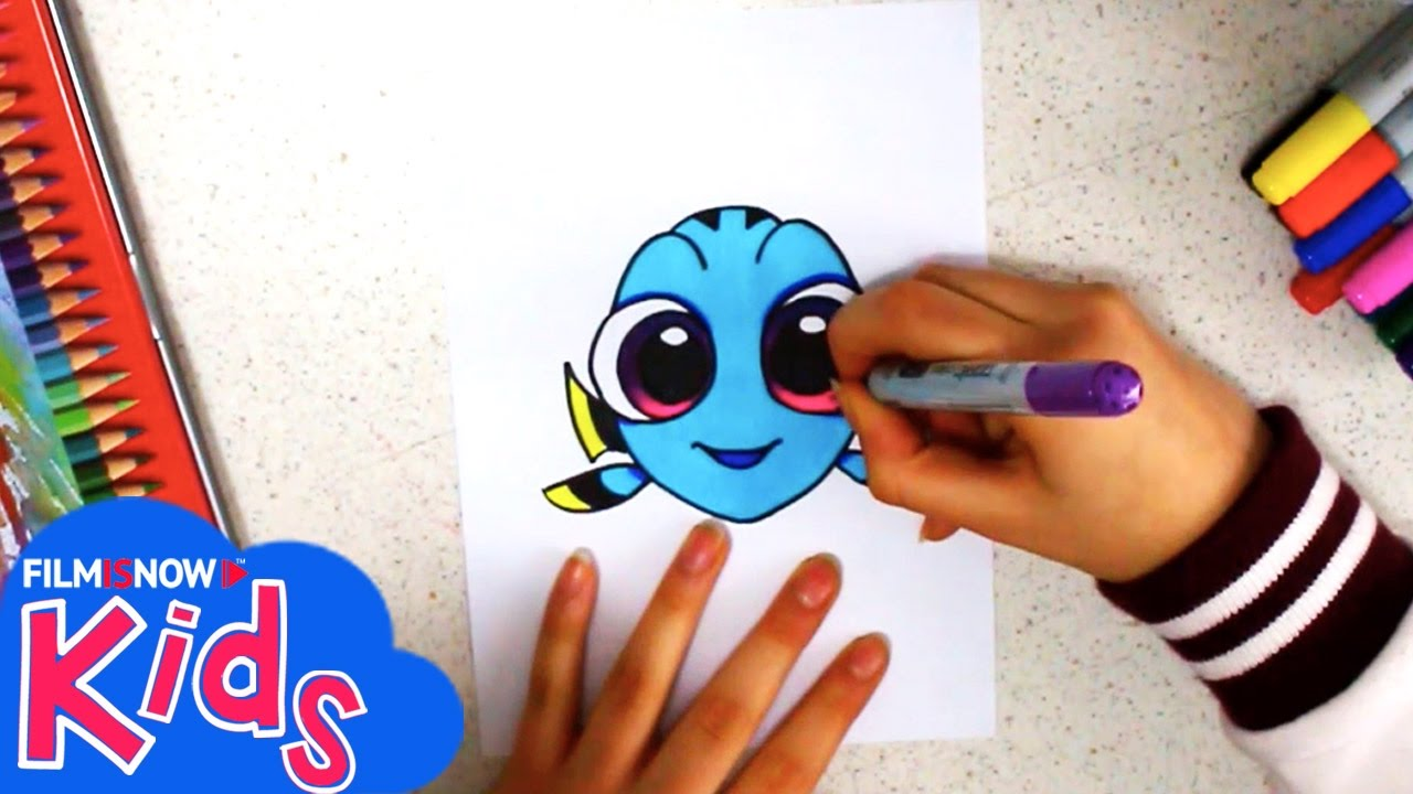 Come disegnare la piccola dory tutorial semplice per for Disegni facili colorati