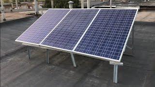 Электричество в гараже от солнечных батарей, а вода в кране от дождя... Все своими руками!