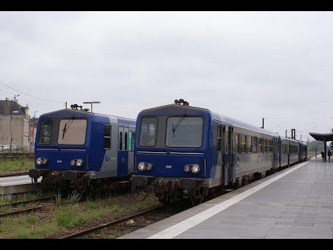 En cabine d'un X 2100 entre Rennes et Châteaubriant (Cab Ride)