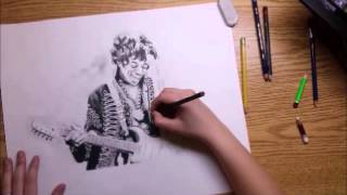 Jimi Hendrix - Speed Drawing