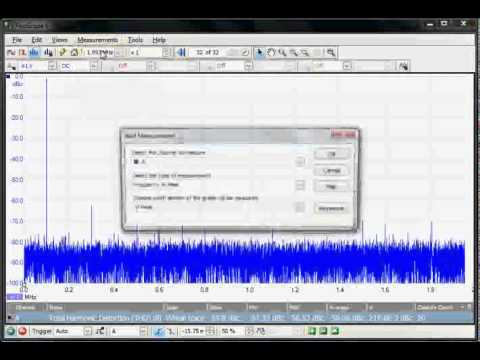 PicoScope 6: Making SNR And THD Measurements