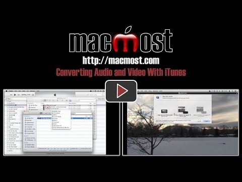 Converting Audio and Video With iTunes (#999)