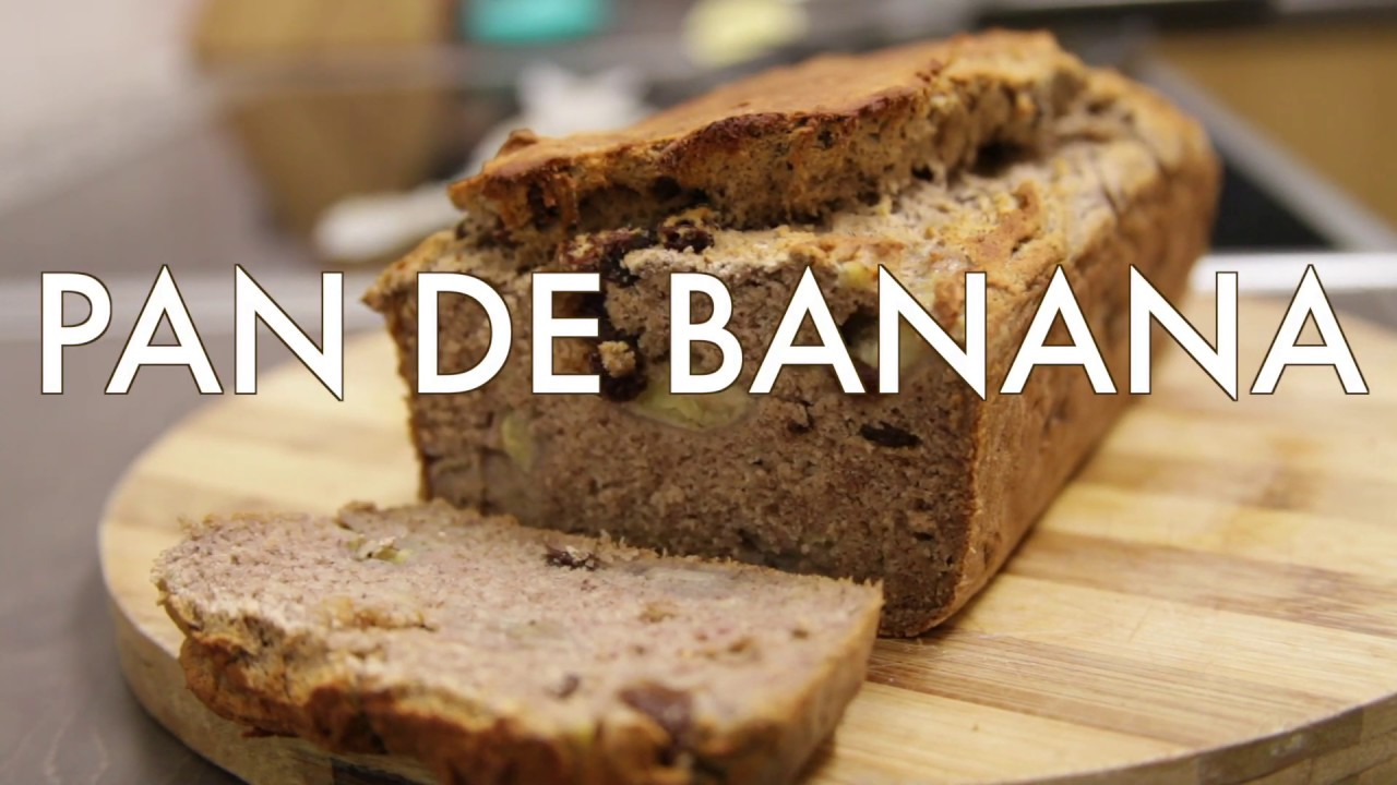 Pan de Banana | Sin Gluten | Sin Azucar | Vegano