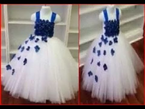 c3704197dce6 Baby girl party wear dress frock cutting and stitching - YouTube