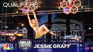 Jessie Graff Puts on a Show - American Ninja Warrior Qualifiers 2020