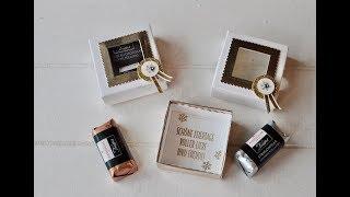Tutorial: Trüffel/Nougat/Marzipan elegant verpacken mit Stampin