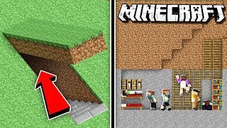 MINECRAFT SECRET HIDDEN BASE CHALLENGE! (Denis & Alex vs. Sketch & Sub)