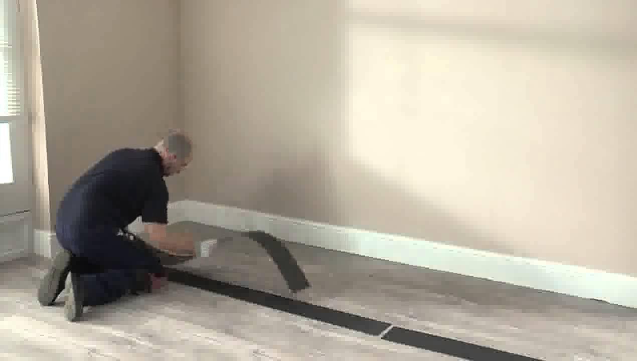 installation des sols livyn quick step en pose coll e youtube. Black Bedroom Furniture Sets. Home Design Ideas