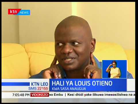 Mwanahabari Louis Otieno aelezea ugonjwa wake uliyo mpaa matatizo na kumpotezea uwezo wa kusikia