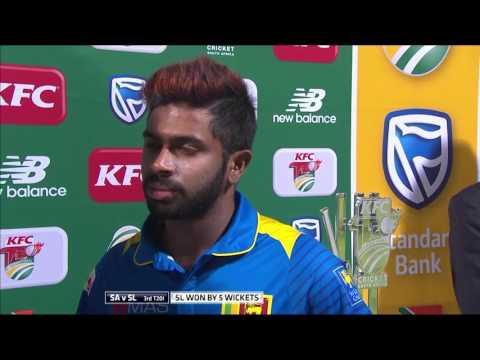 South Africa vs Sri Lanka - 3rd T20  - Man of the match - Niroshan Dickwella