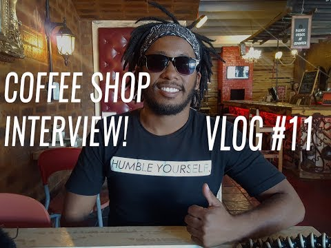 INTERVIEW AT MY FAVORITE COFFEE SHOP! VLOG #11