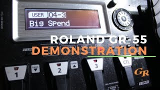 ROLAND GR-55 (2019 DEMONSTRATION) - Best Synthesizer for Guitar