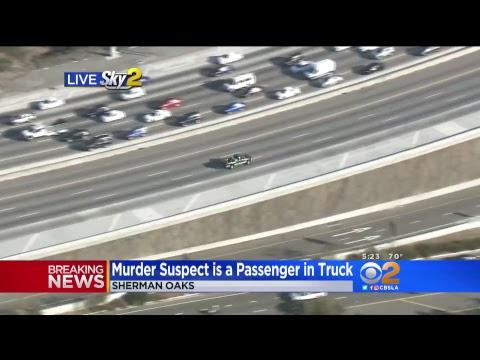 LIVE: Police Chase Murder Suspect In San Fernando Valley