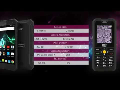 Archos 50 Saphir 4G vs CAT B30 - Phone comparison