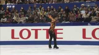 Tatsuki Machida  FS(no commentary)+Interview 2013 Japanese Nationals 町田樹 検索動画 22