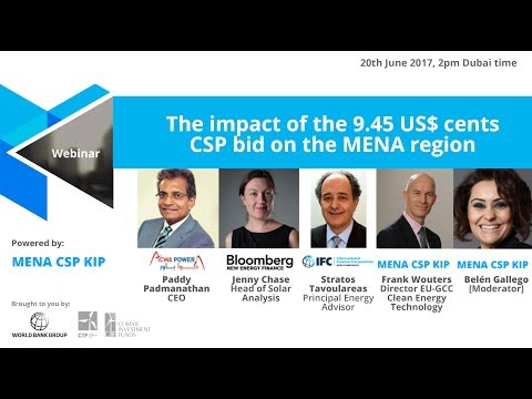 Webinar: What the 9.45 US$ cents CSP bid means to the MENA region