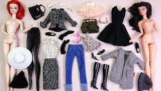 ★바비인형 콜렉터,클래식블랙드레스,트위드 수트바비 개봉★2017 Barbie Collector CLASSIC BLACK DRESS,B&W TWEED SUIT Dolls