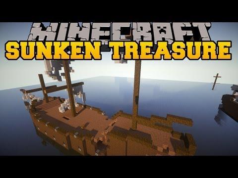 Minecraft: SUNKEN TREASURES (EXPLORE SHIPS FOR GREAT REWARDS!) Mod Showcase