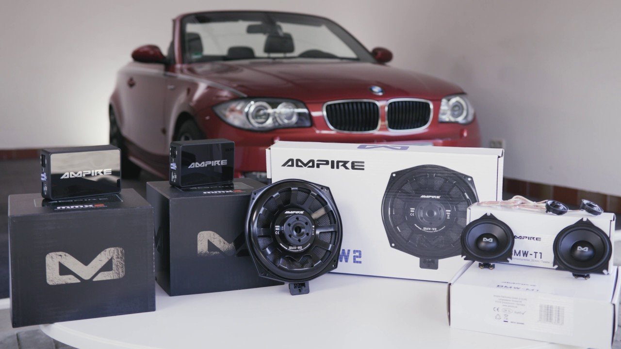 BMW 1er Cabrio Sound Upgrade Hifi System Ampire