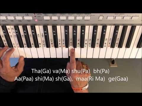 Jana Gana Mana Revised Tutorial  using Indian notes ( National Anthem of India)
