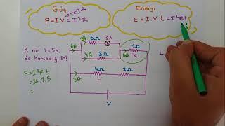 ELEKTRİK 2(Lambalar,Üreteç seri paralel,Güç enerji,Harflendirme)