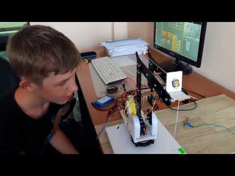 Подъёмный кран на Arduino UNO своими руками + Scratch S4A