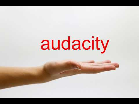 How to Pronounce audacity - American English