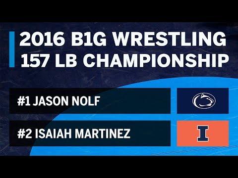 2016 Big Ten Wrestling Championships - 157 Pounds - Nolf vs. Martinez