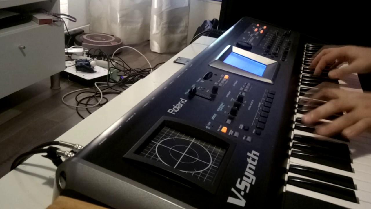 Roland V-Synth + VC-1 card (D-50 emulation) doing Jean-Michel Jarre sounds