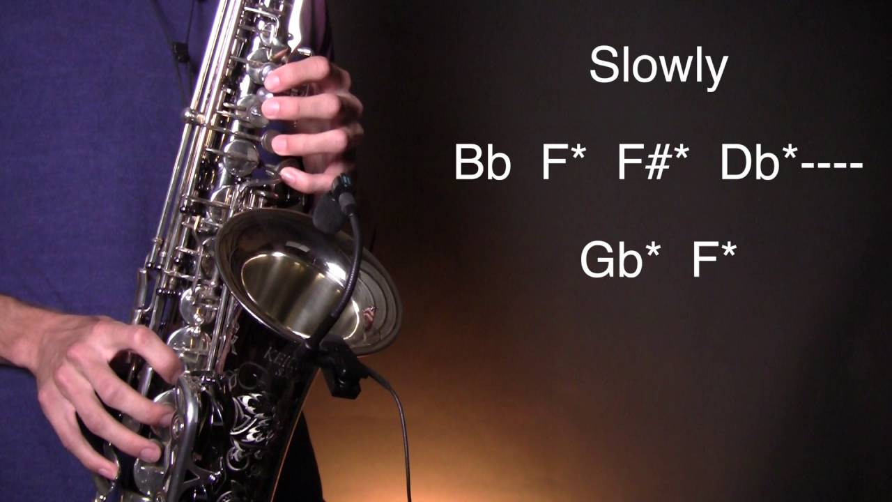 how to play alto saxophone