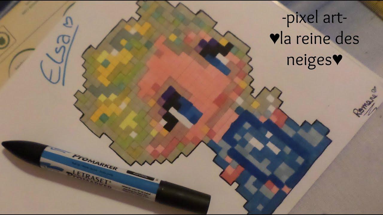pixel art la reine des neiges