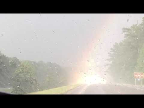 Once in a lifetime driving through the end of the rainbow