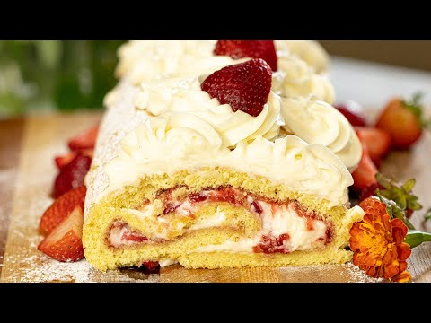 Strawberry Swiss Roll: Ready in 1 hour! from YouTube · Duration:  12 minutes 24 seconds