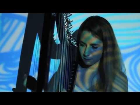 Maia Darme - Aquaharp (Animusic on a real harp)