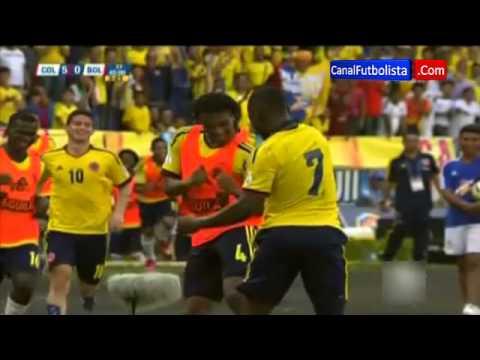 Baile Pablo Armero celebración gol Colombia 5-0 Bolivia Eliminatorias Mundial 2014 | 22-03-2013
