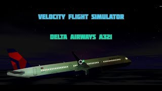 Flying an A321 in Velocity Flight Simulator Roblox