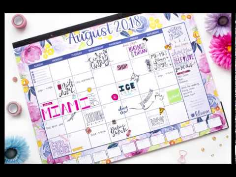 bloom daily planners® 2018-2019 Academic Year Desk & Wall Calendar - Watercolor Floral