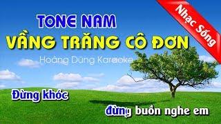 Vầng Trăng Cô Đơn Karaoke Nhạc Sống Tone Nam
