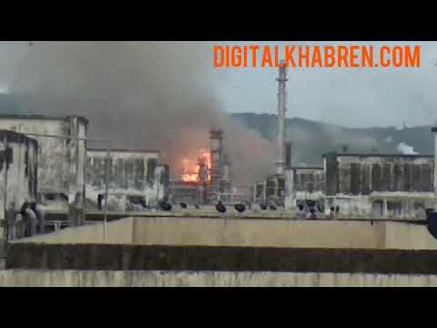 Bpcl refineries hydrogen cracker plant , chembur - fire