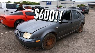 Copart $600 2003 VW Jetta TDI Turbo Diesel Reveal!!