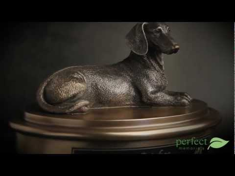 Dachshund Pet Cremation Urn By Perfect Memorials