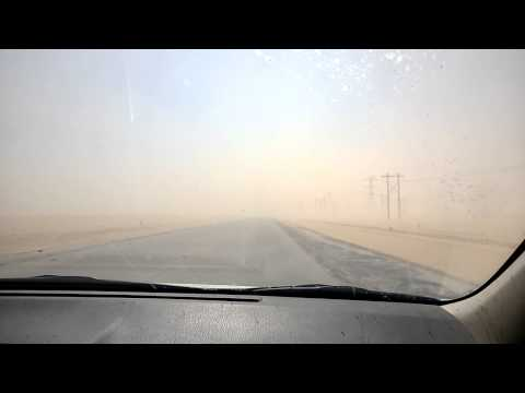 Sand storm Old Khafji road
